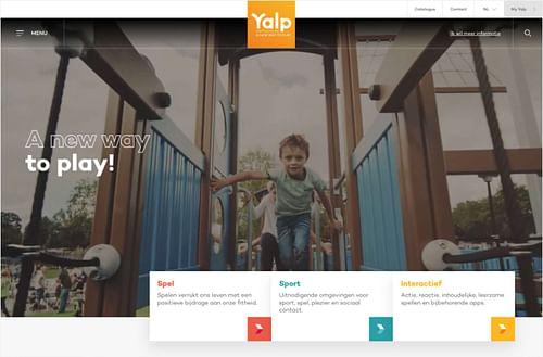 Realisatie website voor Yalp - Website Creatie