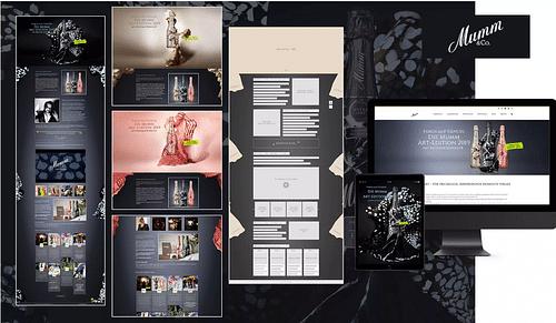 Die Mumm Sekt Art Edition - Webseitengestaltung
