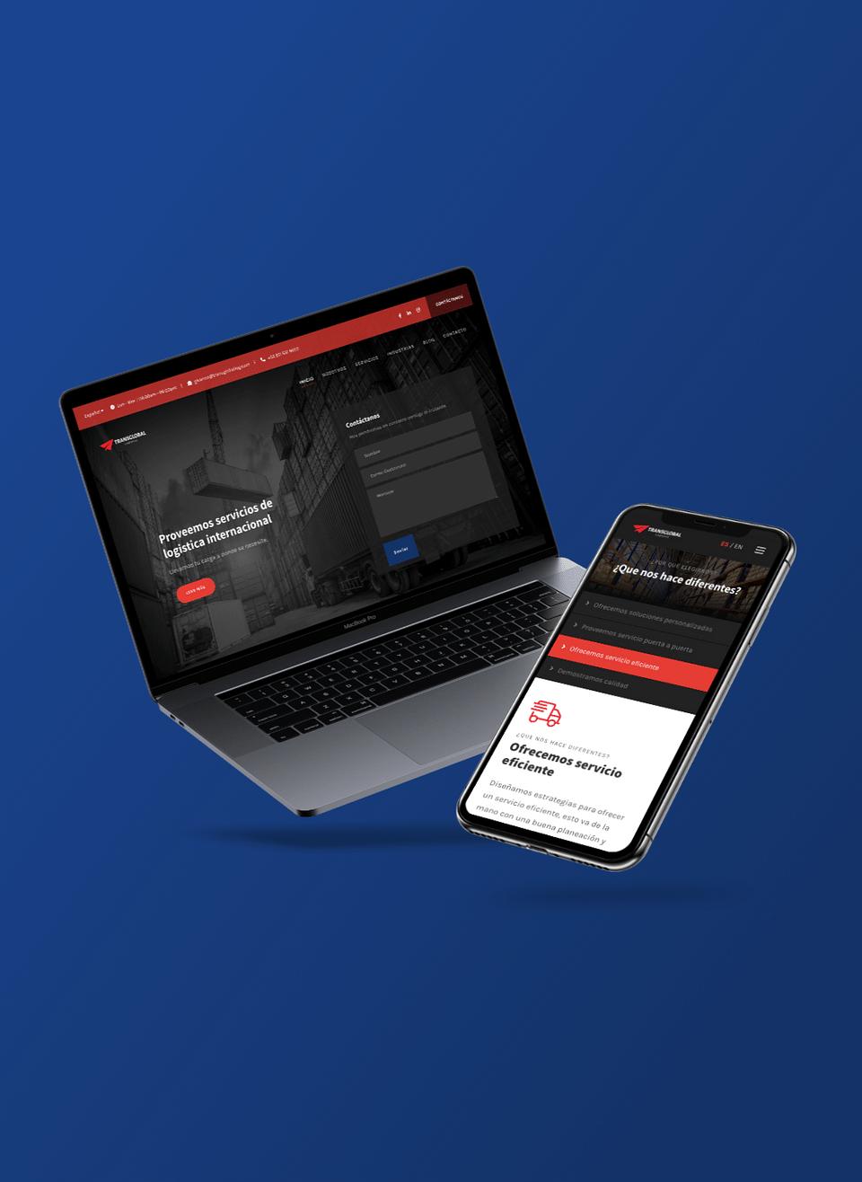 Transglobal Logistics - Website Design