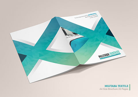 Company Profile Design for Mujtaba Textiles