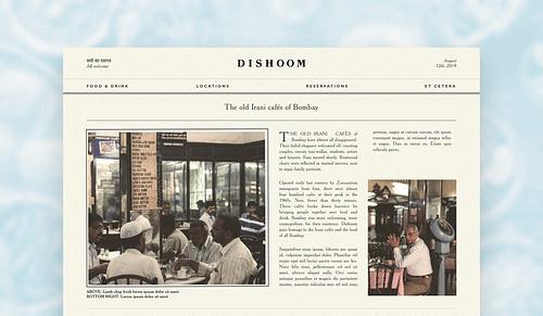 Dishoom Website - Website Creation