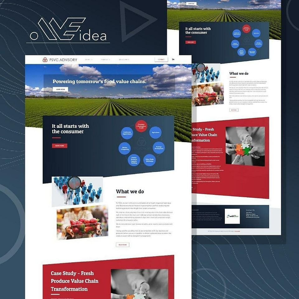 Web design and branding for partner