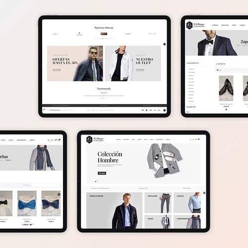 El dique moda hombre - Creación de Sitios Web