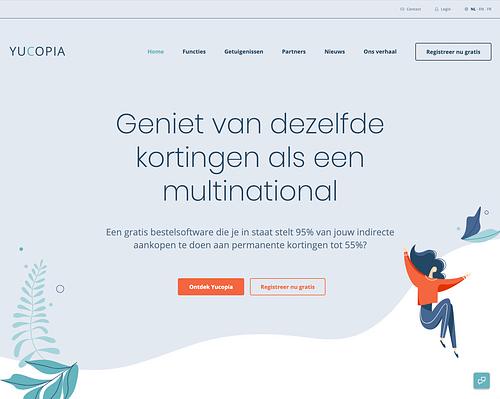 Yucopia website - Website Creatie
