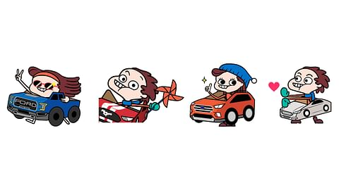 Social Media Stickers for Ford