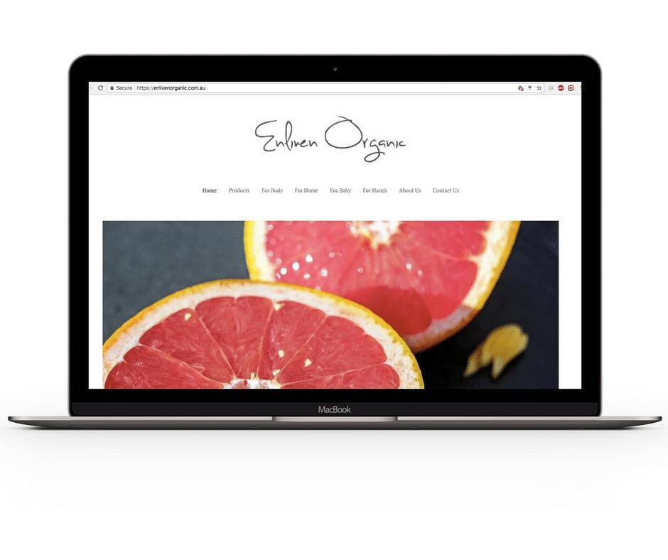 Enliven Organic E-Commerce Design