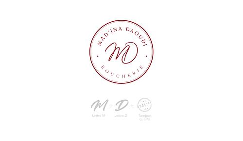 Conception d'identité visuelle pour Mad'ina Daoudi - Design & graphisme