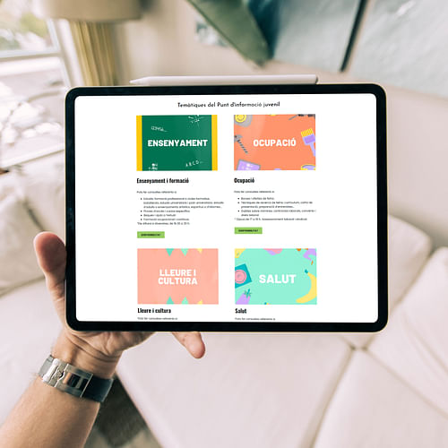 Diseño y desarrollo web   Espai Jove La Capella - Creación de Sitios Web