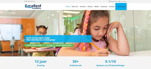 excellentacademy.nl - Webdesign + SEO - Website Creatie