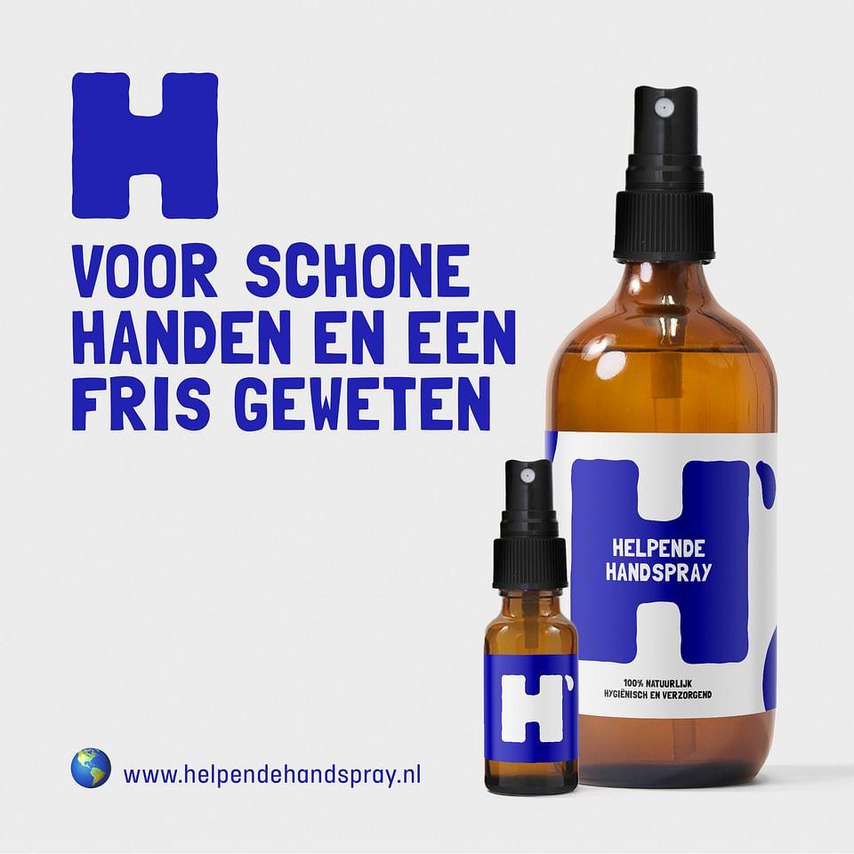 Branding & packaging Helpende Handspray