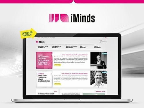 iMinds: New website - Website Creatie
