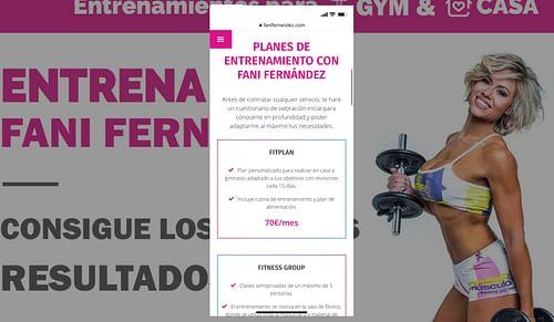 SEO y diseño web para Fani Fernández. - Creación de Sitios Web