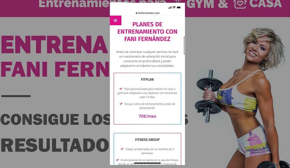 SEO y diseño web para Fani Fernández.