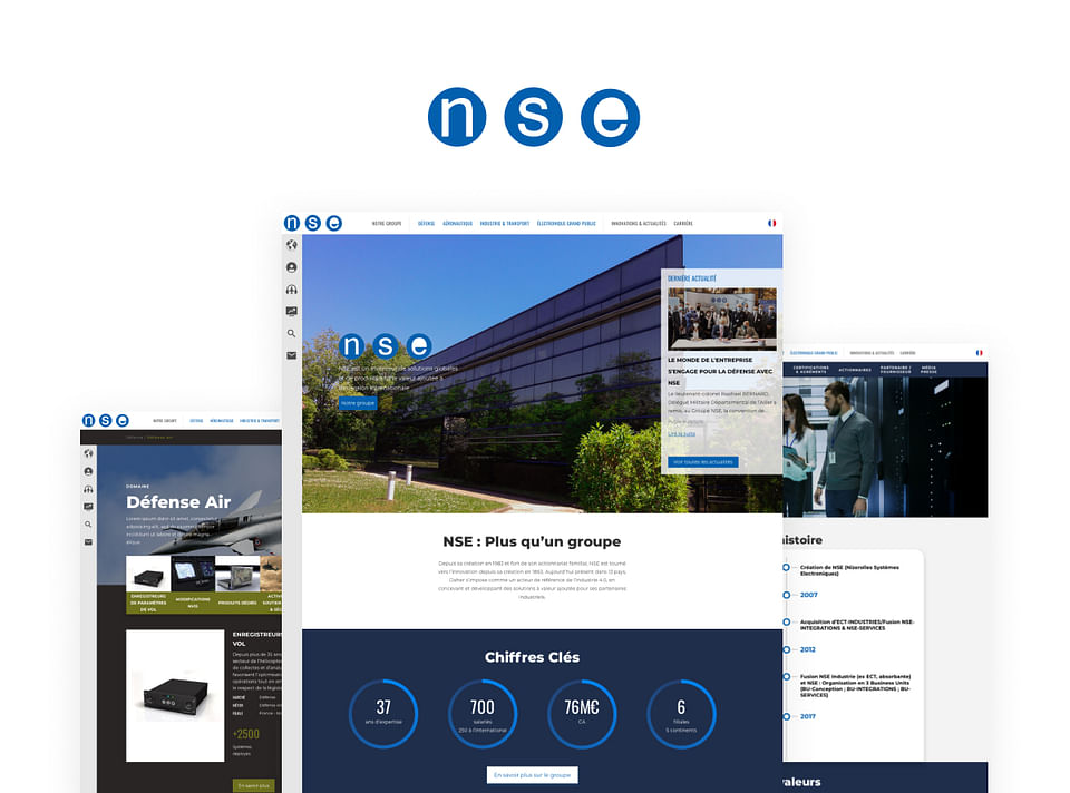 NSE GROUPE - Refonte site web