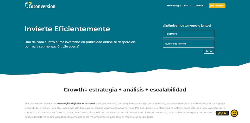 Creación Página Web Agencia de Marketing Digital