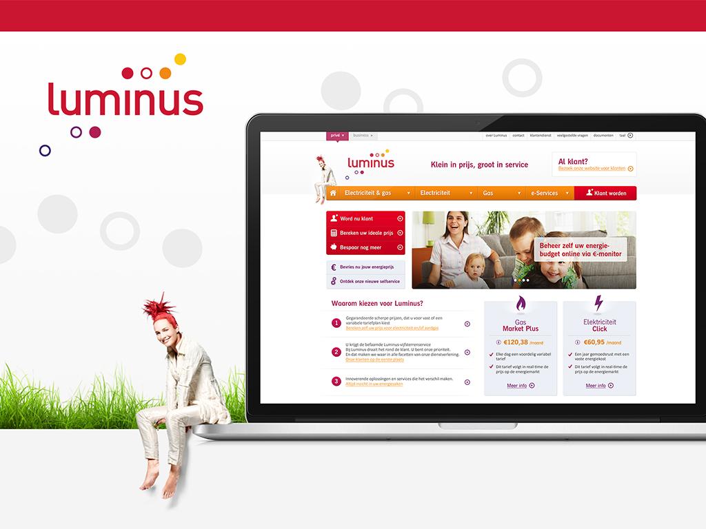 Luminus: Responsive site - Website Creatie