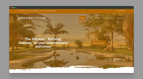 Website Development for Hideaway Lodge Zimbabwe - Website Creation