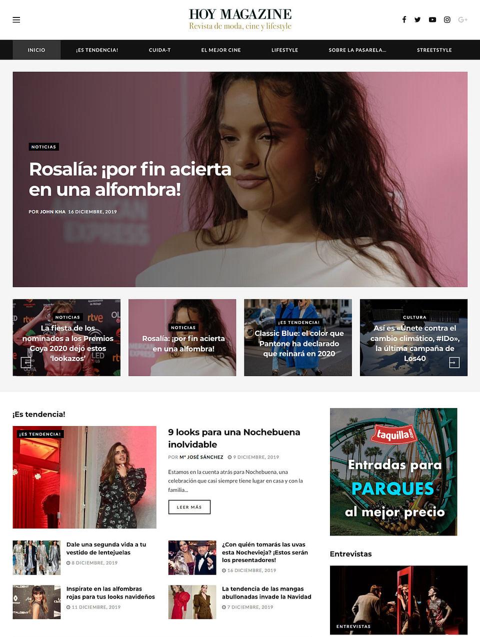 Desarrollo web revista digital de moda y lifestyle