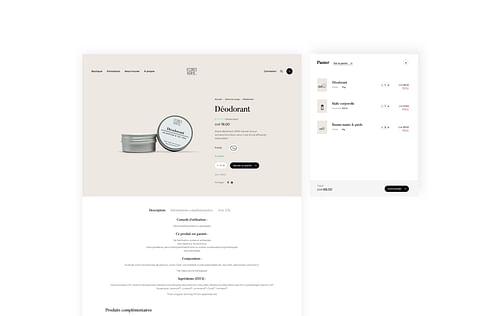 eCommerce Website for Ecorce Verte - E-commerce