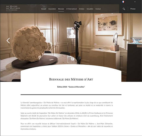 De Mains De Maîtres - website creation