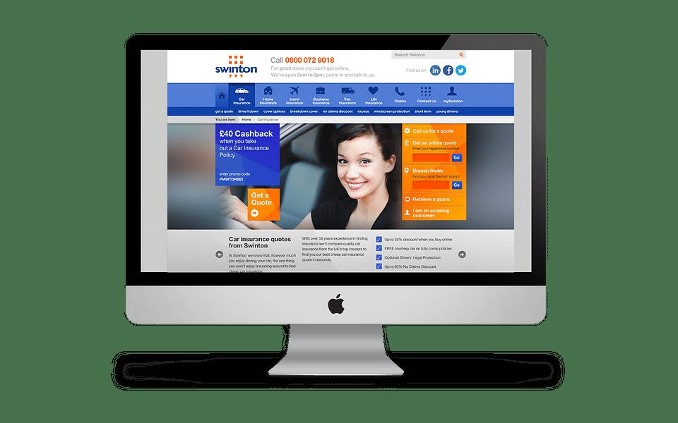 Concept design for Swinton Insurance