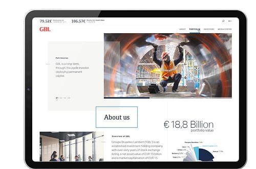 GBL (Groupe Bruxelles Lambert) - Website - Création de site internet