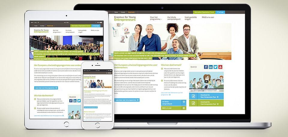 Webdesign voor het Europese Erasmus project