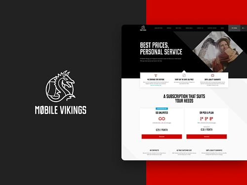 Mobile Vikings - Création de site internet