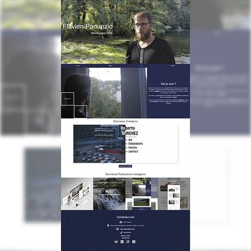 Portfolio étudiant - Création de site internet