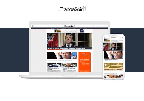 FRANCE SOIR : Web application responsive - Application web