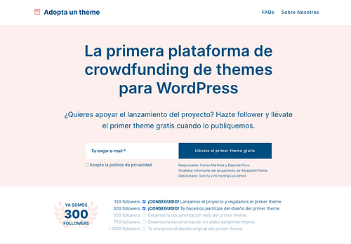 AdoptaUnTheme - Creación de Sitios Web