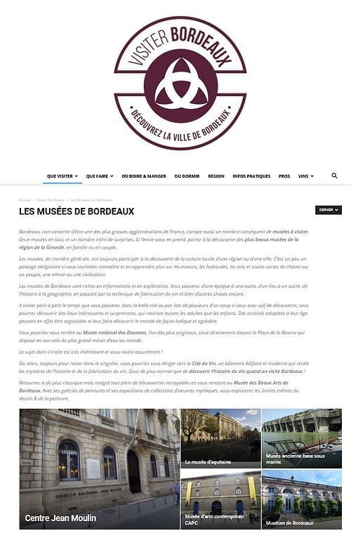 Création d'un site pour Bordeaux - Création de site internet