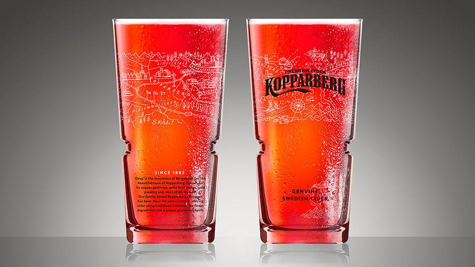 Kopparberg debut draught glass design