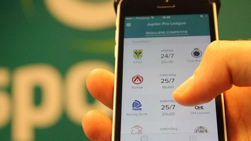 Sporza app voor VRT - Mobile App