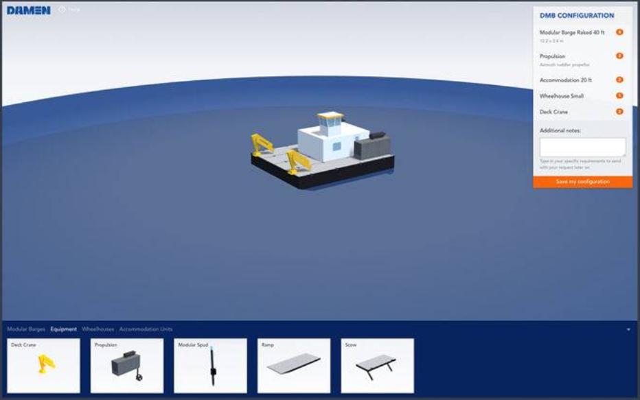 Modular Barge 3D configurator