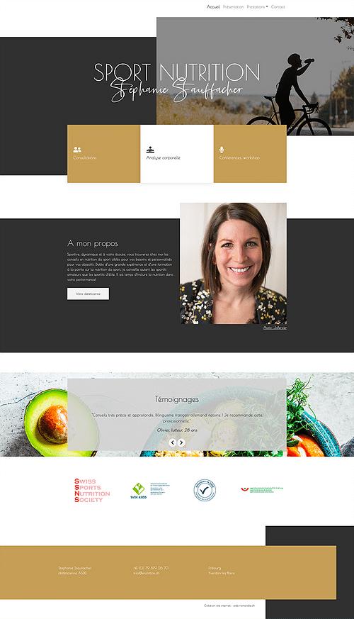 Snutrion : création site internet - design - Création de site internet