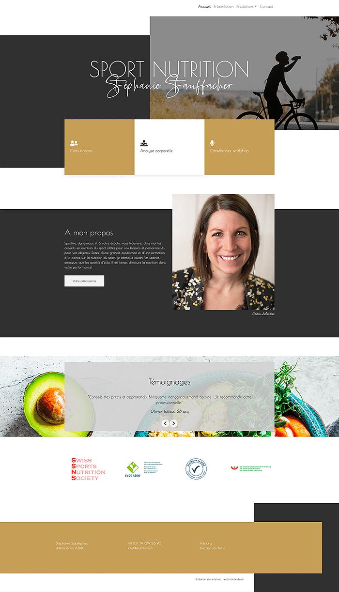 Snutrion : création site internet - design