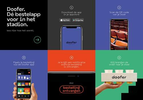 Branding en Campagne voor bestelapp Doofer - Branding & Positionering