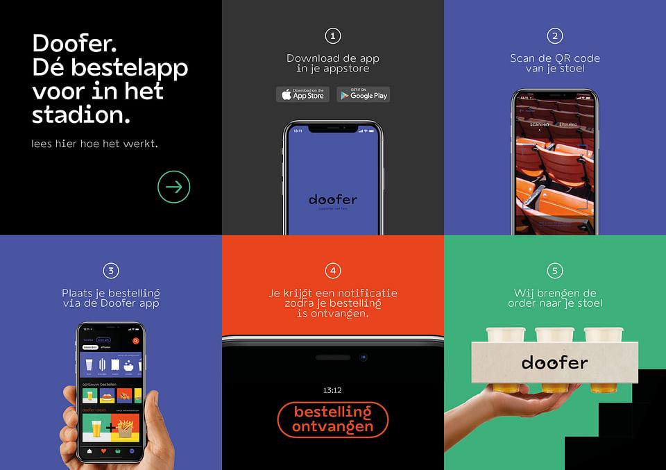 Branding en Campagne voor bestelapp Doofer