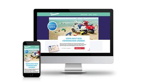 Vespa & Piaggio - Führerschein-Upgrade - Onlinewerbung