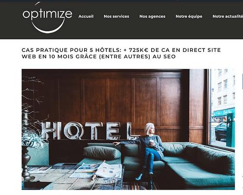 + 700 000 € de CA direct en 10 mois (5 hôtels) - Digital Strategy