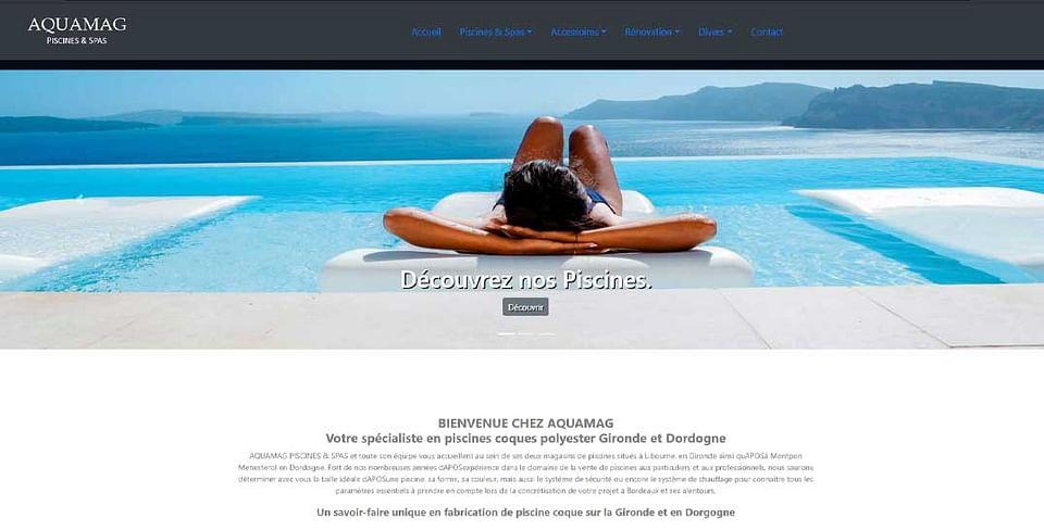 Refonte du site internet Aquamag Piscines & Spas