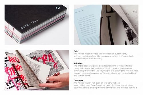 ANNUAL REPORT FOR THE SOCIETY OF GRAPHIC DESIGNERS OF CANADA 2009-2010 - Advertising