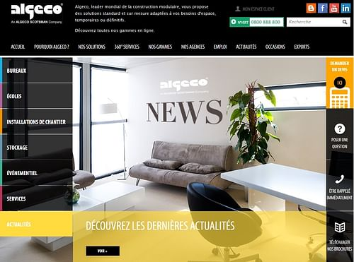 Algeco France - Italie - Espagne - Stratégie digitale