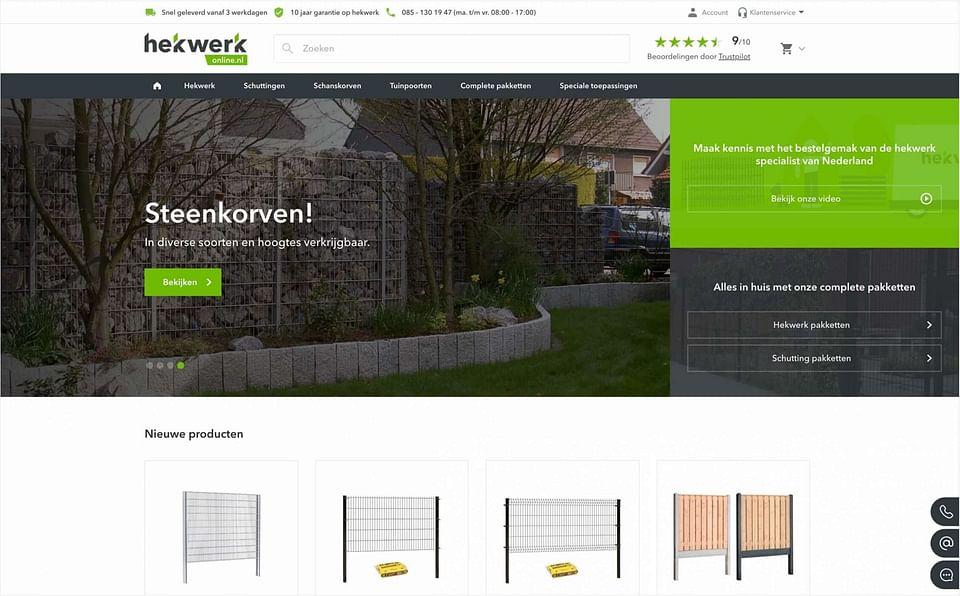 Magento 2 webshop Fenceweb: Hekwerkonline.nl