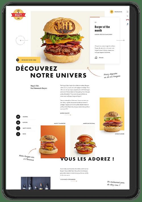 FOOD - Website creation - Création de site internet