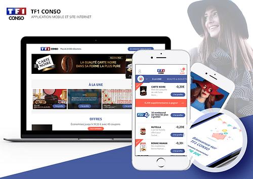 Site web & application mobile TF1 Conso - Application web