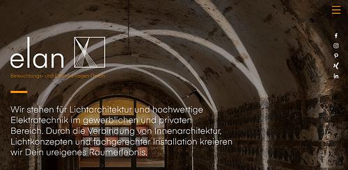 Elan - Corporte Identity, Website & SEO - Markenbildung & Positionierung