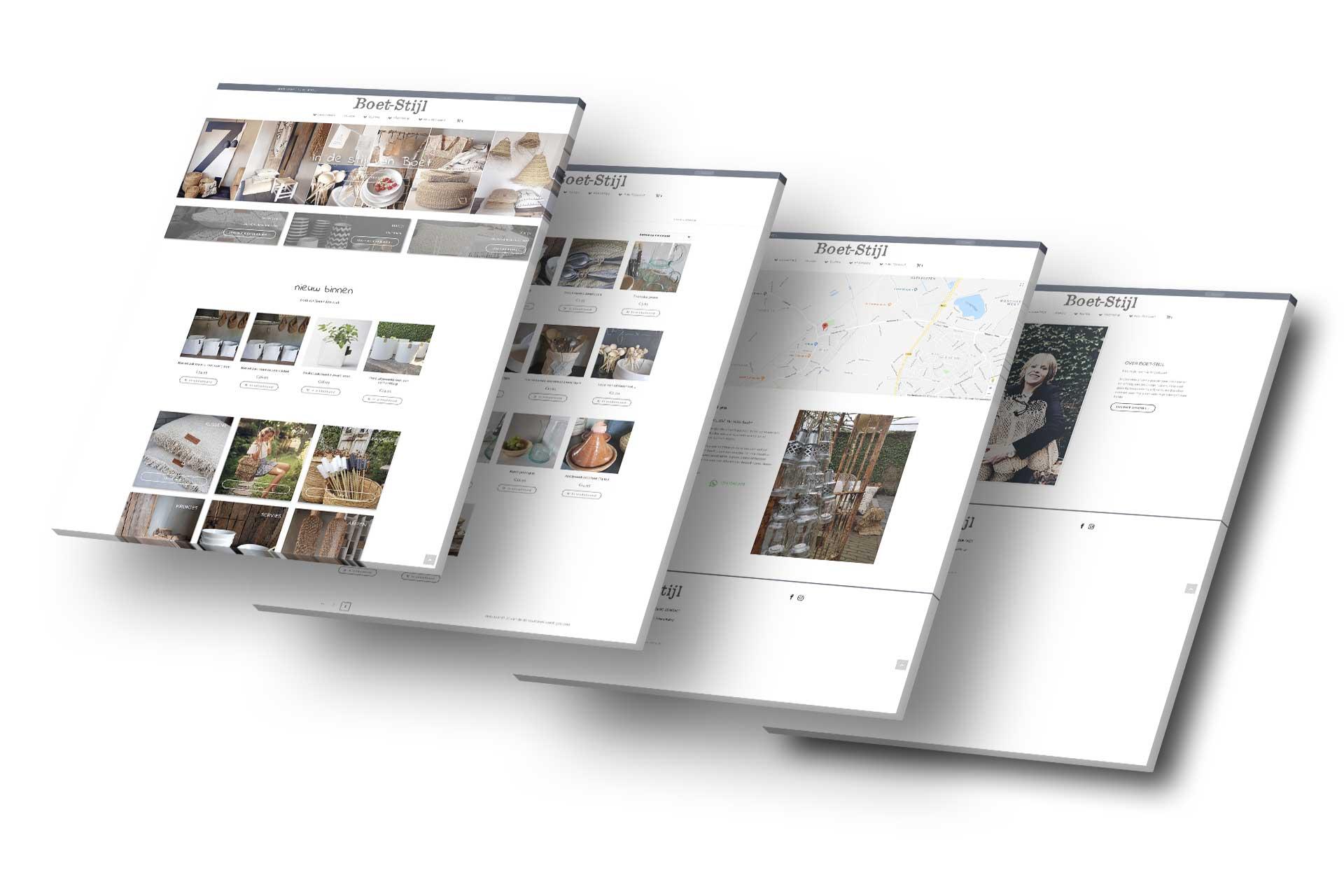 Boet-Stijl Webshop - Website Creatie