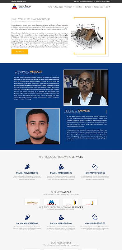 Maxim Group - Website Creation